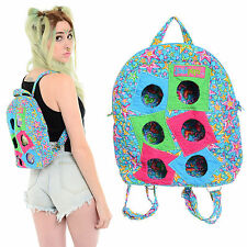 Vintage 90s Club Kid KAWAII Mini Backpack Cutout Quilted Stars Rave Purse Bag