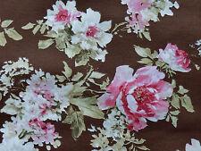 Romantik Rosen Deko Stoffe Landhaus Rosenstoffe rosa braun mocca Bezugstoff