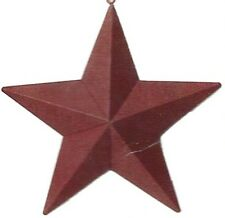 """5.5x5.5"""" Rustic Primitive Country RED Metal Barn STAR Sign Vintage Tin Decor"""