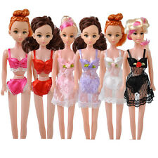 6pcs For Barbie Doll's Sexy Lace Lingerie Pajamas Bra Underwear Dresses Outfit