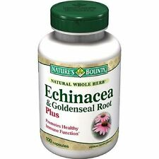 Nature's Bounty Natural Whole Herb Echinacea Goldenseal Plus 100 Capsules