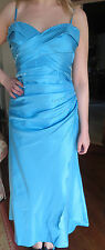 KELSEY ROSE EVENING PROM DRESS SIZE 16 BLUE SHOESTRING STRAPS OR STRAPLESS