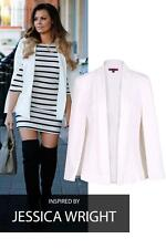 Womens Cape Blazer With Collar Open Front Long Sleeves 8-16