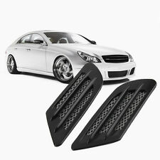 Car Side Air Flow Vent Hole Cover Fender Intake Grille Decoration Sticker XC