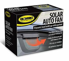 Solar Powered Car Window Fan Auto Vent Ventilator Cooler Sun Power Cooling