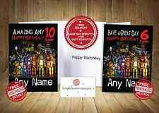 Five Nights at Freddy's 3- Personalised  Birthday Card - FAST FREE DELIVERY