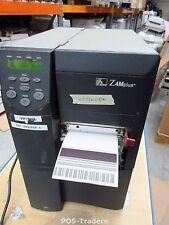 Zebra Z4M PLUS Z4M00-200E-5200 NETWORK SERIAL Thermal Label Printer REWINDER