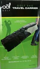 "Sol Golf Rolling Golf Bag Travel Carrier / Cover, Black/Grey, 50""x13""x13"""