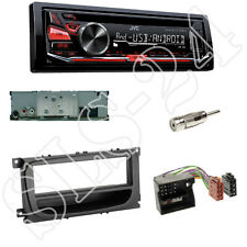 JVC KD-R471 Radio CD/USB + FORD C-MAX DM2 Blende+schwarz ISO Adapter+Antenne Set