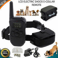 Electric Dog Shock Collar LCD For 1 Dog Training Remote Control Anti-Bark UK