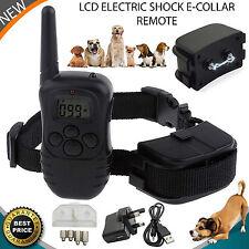 Cane Elettrico Scossa Collare per LCD 1 telecomando Addestramento Cani Anti-Abbaio UK