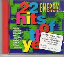(EV434) Energy Rush, 22 Hits Of The Year, 22 tracks various artists - 1993 CD