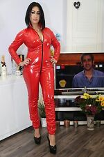 RED PVC CATSUIT  SIZE  16 UK NEW WITH TAGS