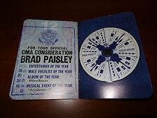 Brad Paisley Wheelhouse CD -Full Album + Promo Mailer for CMA Awards (Rare)!