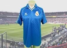 Rare Real Madrid 1988-89 away shirt camiseta maillot trikot size L Hummel