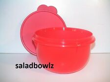 TUPPERWARE New 8 CUP CLASSIC FLAT BOTTOM MIXING BOWL w/Seal Lid in RED fREEsHIP