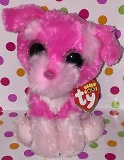 """6"""" Reg Size 2017 Ty Beanie Boo Cherry the Dog Claire's Exclusive"""