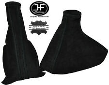 BLACK STITCHING FITS CORSA C 2000-2006 GEAR & HANDBRAKE GAITER SET ALCANTARA