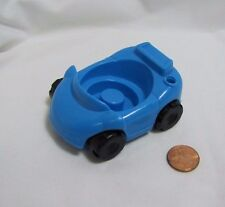 Fisher Price Little People BLUE CAR VEHICLE for GARAGE HOUSE FAMILY Rare