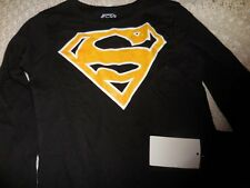 nwt Superman glittery emblem long sleeve t shirt  girl 7 8 free ship USA