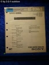 Sony Service Manual XE 90 MkII Graphic Equalizer (#2990)