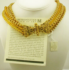 Metropolitan Museum of Art Golden Blossom Necklace (with box/pouch/romance card)