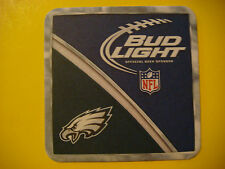 Beer Coaster  ^  Anheuser Busch Budweiser ~ Philadelphia, PA EAGLES NFL Football