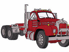 MACK TRUCK PATCH B MODEL RED  JUMBO  SIZE  12in. X 8in.,LOOKS GREAT