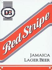 RED STRIPE JAMAICA LAGER BEER - MAN CAVE PUB BAR METAL WALL SIGN TIN PLAQUE 854