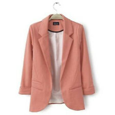 Hot Women Fashion Candy Color Casual Slim Solid Suit Blazer Jacket Coat Outwear