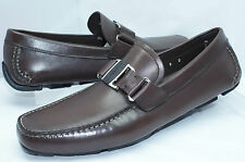 Salvatore Ferragamo Men's Shoes Sardegna 6 Brown Loafers Drivers Size 9.5  NIB