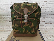 FRED PERRY Classic Backpack L6208 Canvas Rucksack Camo Large Shoulder Bag BNWT