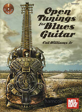 Aprire TuningS per Blues Guitar libro / cd scala & Corda forme dadgad Apri D G C