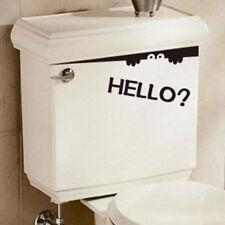 Adesivo murale Ciao bagno WC Gabinetto adesivo Sedile WC Nero