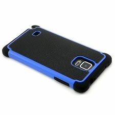 New Blue Heavy Duty Protection Hard Case For Samsung Galaxy Note 4 N9100