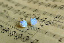 Natural cute Natural Opal stone earrings stud A Pair