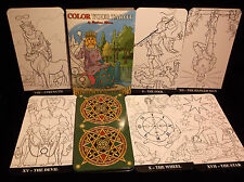 SEALED & BRAND NEW! COLOR YOUR TAROT CARDS MAJOR ARCANA DECK 22 CARDS IN BOX