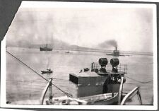 VINTAGE 1925-35 USA MILITARY NAVY SHIP CHEFOO HONG KONG SHANGHAI CHINA OLD PHOTO