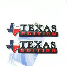 2x OEM TEXAS Edition Emblem for Ford F150 SIERRA Silverado GMC YU Matte BlackRed