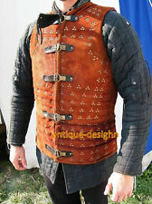 Thick ORANGE COLOR Steel padded Gambeson wambais Armor LARP re-enactment drama