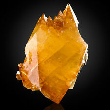 "8.3"" VibrantRich GoldenOrange Elmwood CALCITE Double Terminated Crystal for sale"