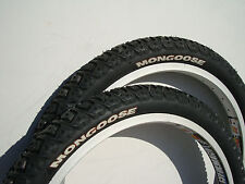 "NOS Mongoose BMX Bicycle Tires 20"" x 2.125 Bike New Freestyle Park Racing Street"