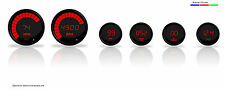 Intellitronix Complete Digital Gauge Set Red LEDs w Senders Black Bezels Dash US