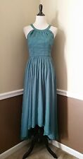 NEW Modcloth Formal Maxi Dress S Fern Green High-Low $125 Brave New Whirl
