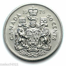1978 SJ 50 CENTS QUEEN ELIZABETH II UNCIRCULATED