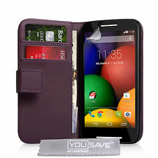 New Purple PU Leather Wallet Motorla Moto E Packaged Phone Case Cover - 1st GEN