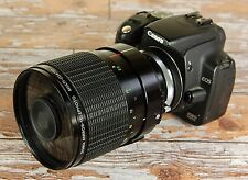 Canon EOS Digital fit Sigma 600mm F8 CAT Mirror Lens ideal sport wildlife + Hood