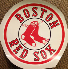 "Boston Red Sox FATHEAD Classic Circle Logo 14"" x 14"" MLB Wall Graphics Vinyl"
