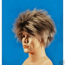 Men's Long & Spiky Wig Brown blonde  Wig Men Party Dress up  Halloween party