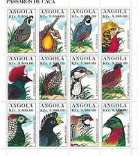 Angola - Hummingbirds, 1996 - Sc 957 Sheetlet of 12 MNH